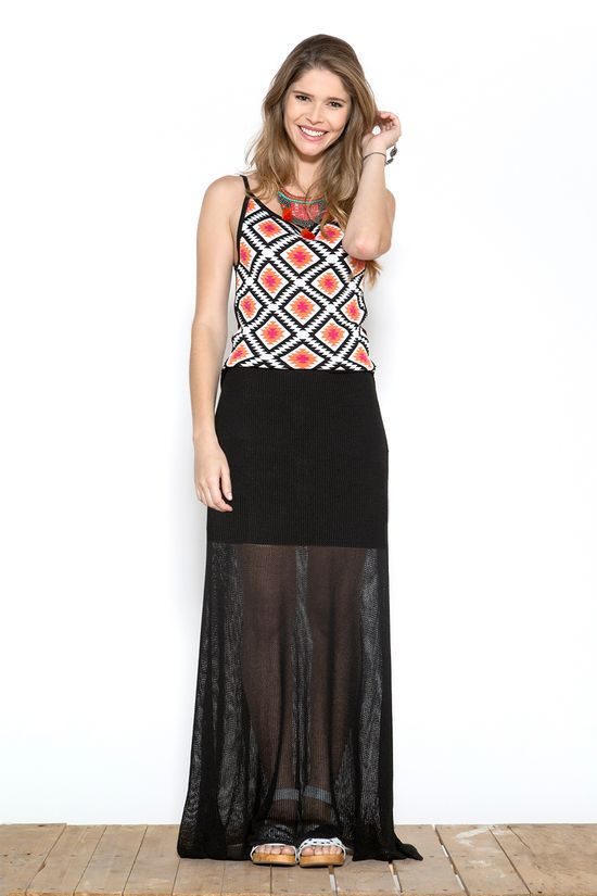 vestido longo de trico