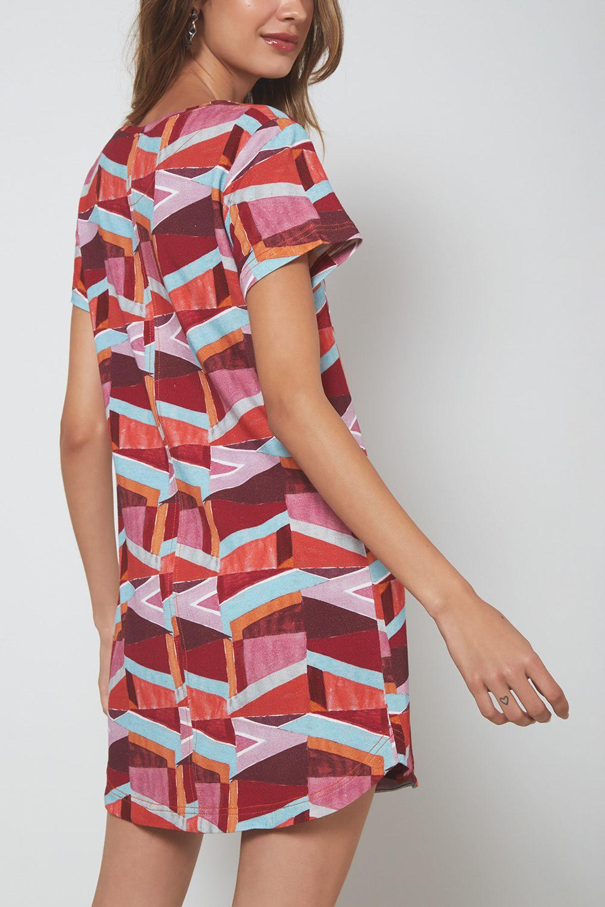 0645bef61f87 Vestido T-Shirt Est Geométrica - 02023354 - ohboy