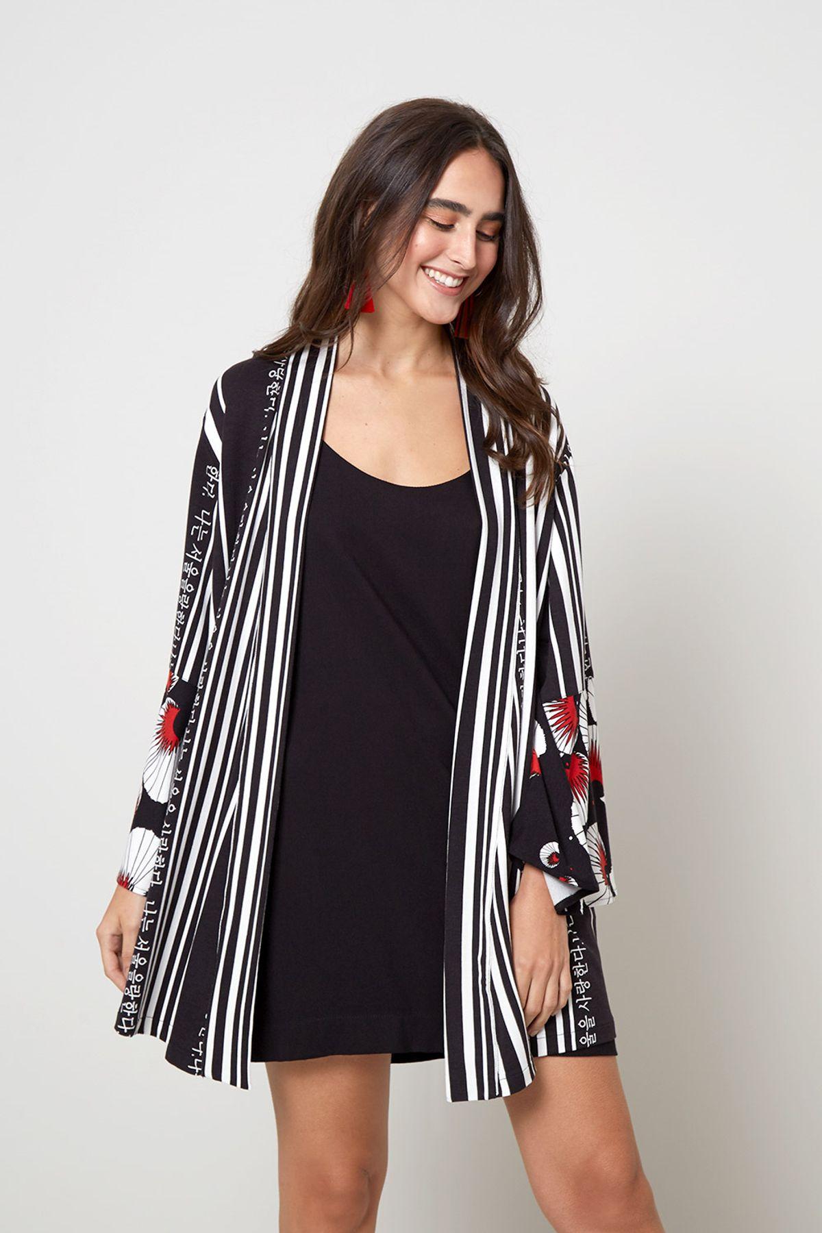kimono com vestido
