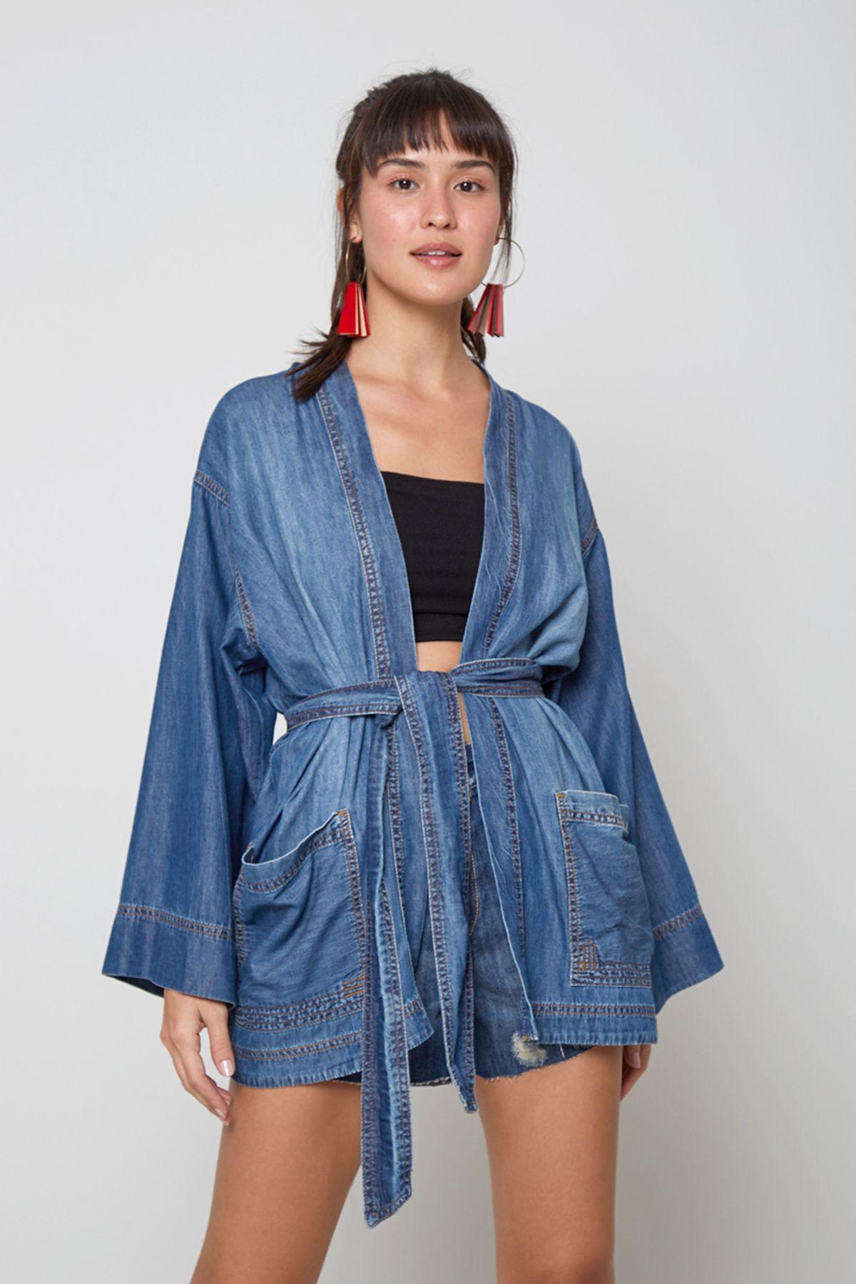 kimono com cinto
