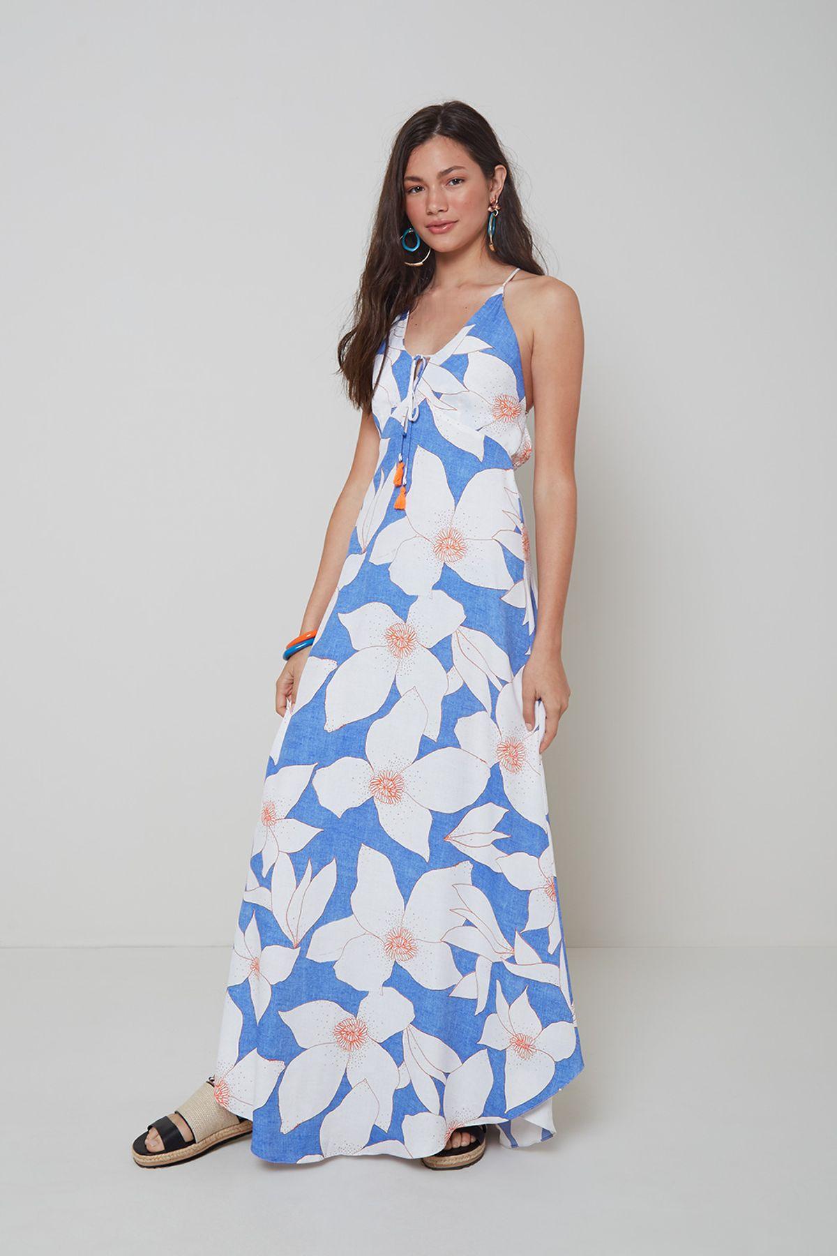 look diurno vestido floral