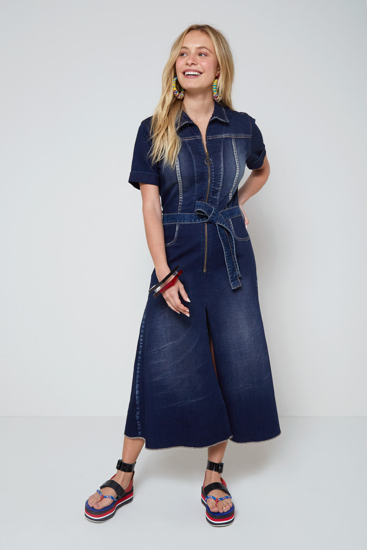Vestido Jeans Ziper