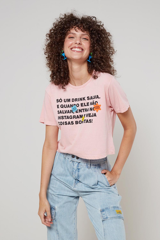 Blusa Malha Só Um Drink